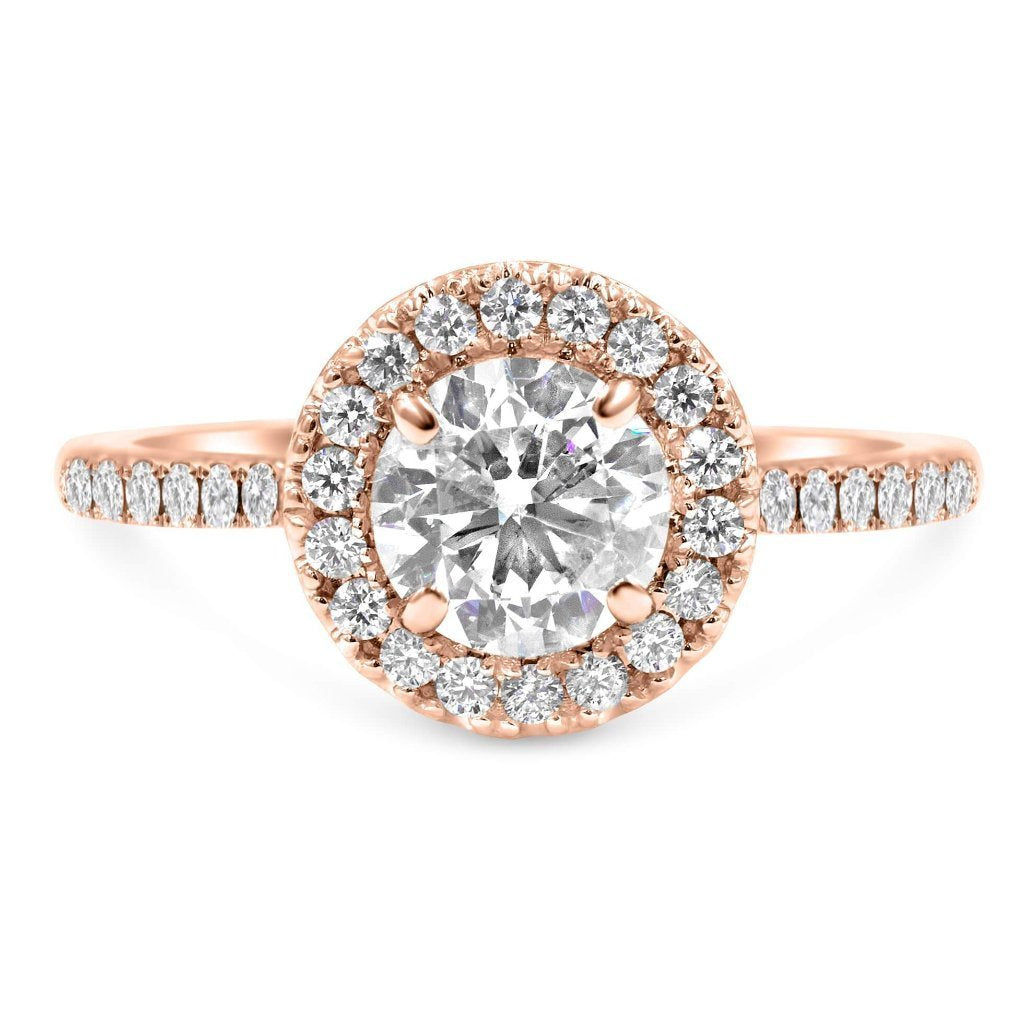 MARINE Round Halo Diamond Engagement Ring