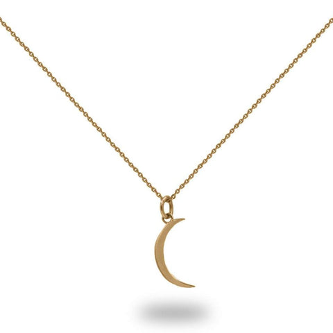 Sahar Moon Necklace In Gold