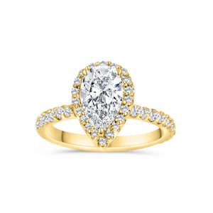 MURSAL | Pear Shape Soft Halo Engagement Ring