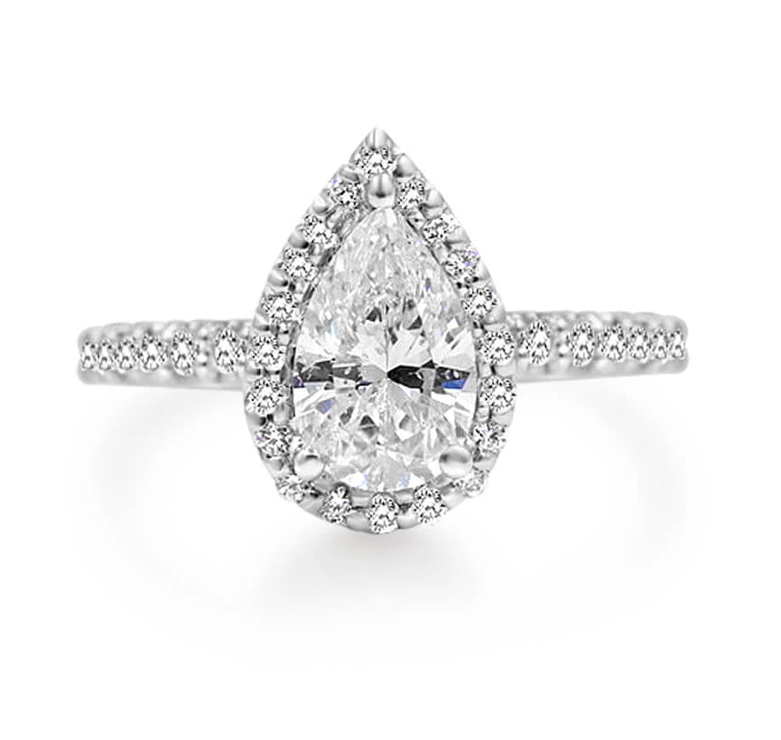 MURSAL Pear shape Diamond Engagement Ring
