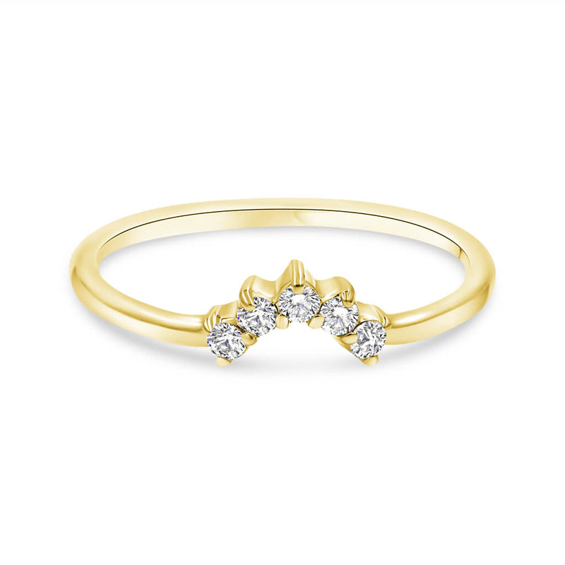 Nancy Diamond Wedding Band In 14K Gold