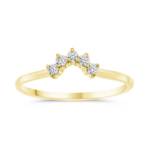 TIARA | Curved Diamond Wedding Band