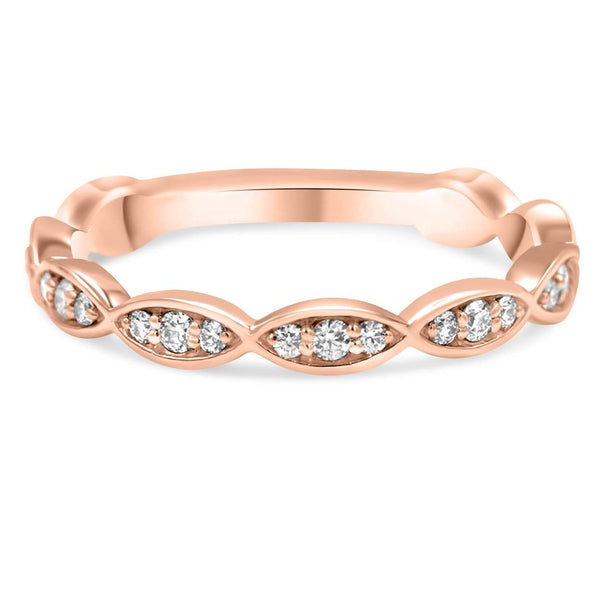 PASSIFLORA Infinity Diamond Band rose gold