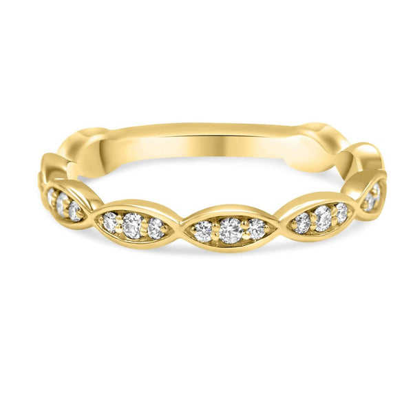 PASSIFLORA Infinity Diamond Band  yellow gold
