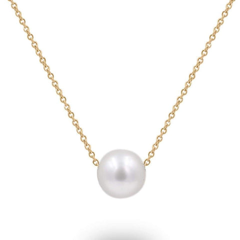 Freshwater Cultured Pearl Necklace in 14K Solid Gold