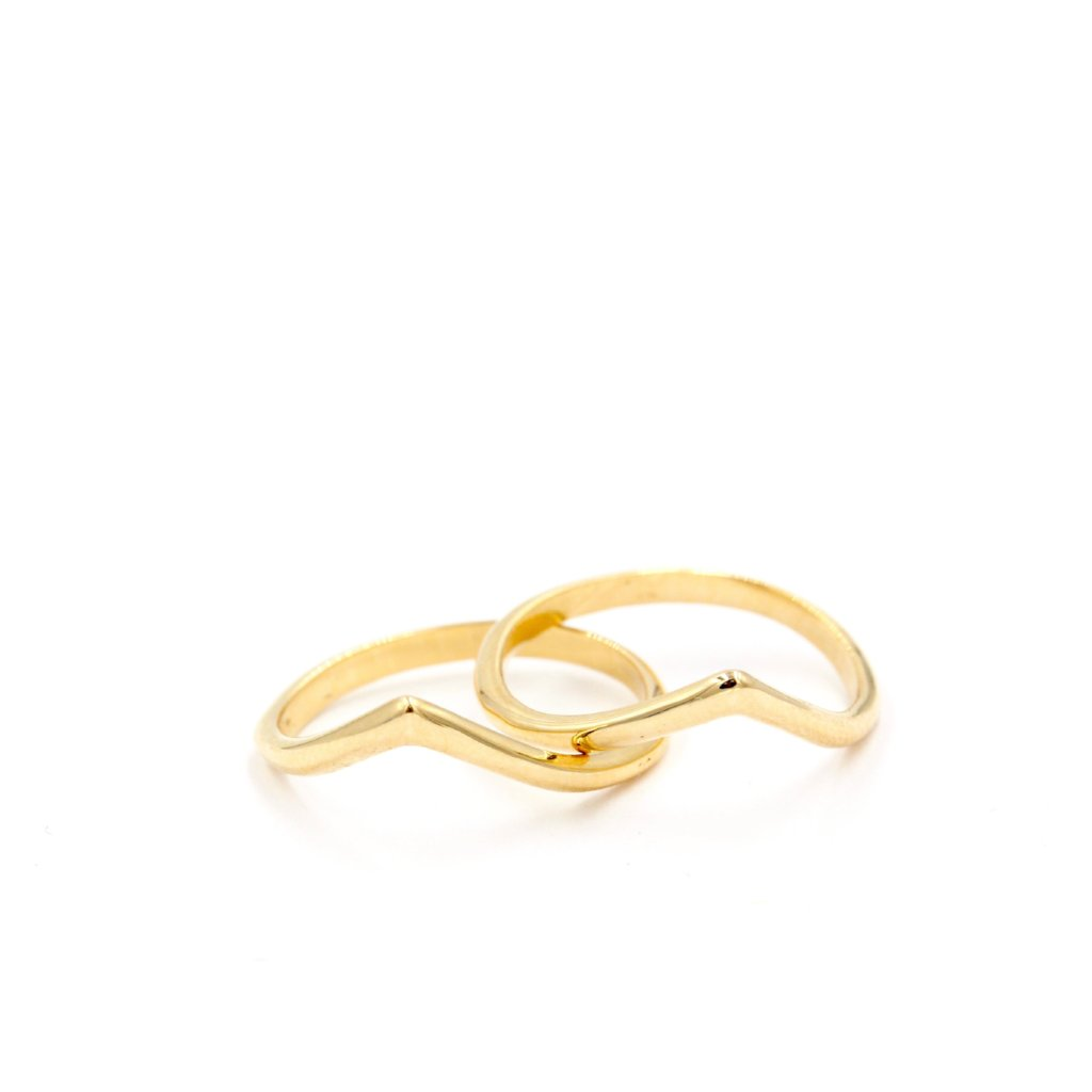 Peony Midi Ring in 14K Solid Gold