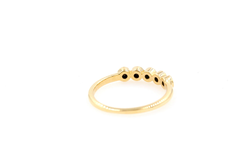 POPPY Stackable Black Diamond Ring - 14K Yellow Gold