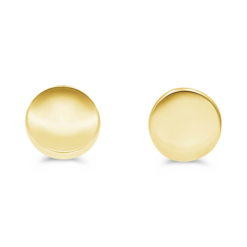 Juniper Circle Stud Earrings In 14K Gold