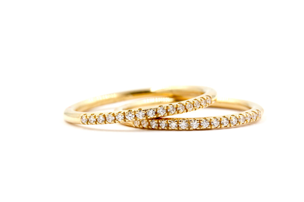 SENNA Diamond Wedding Band - 14K Yellow Gold