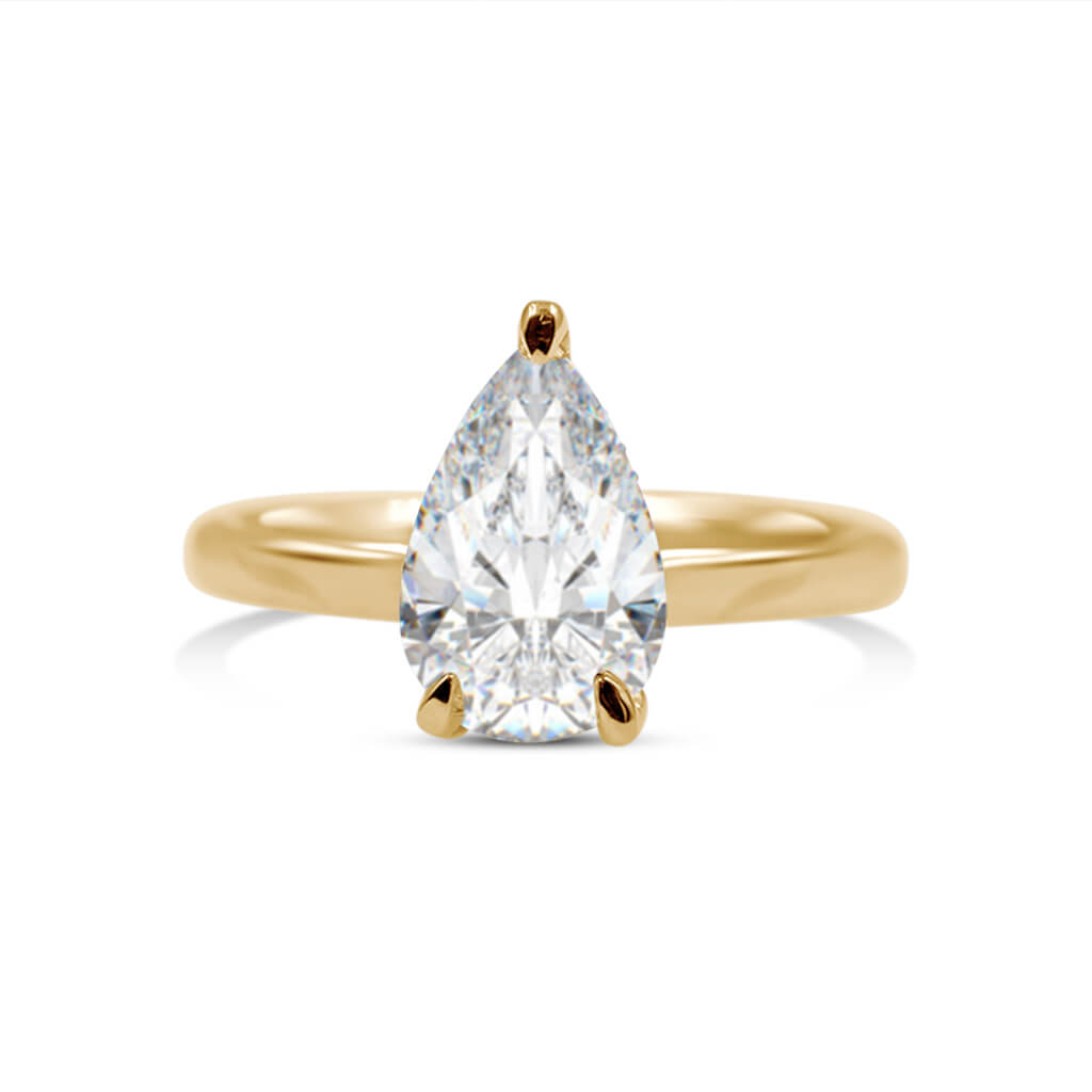 SHAYLE Pear Shape Diamond Engagement Ring