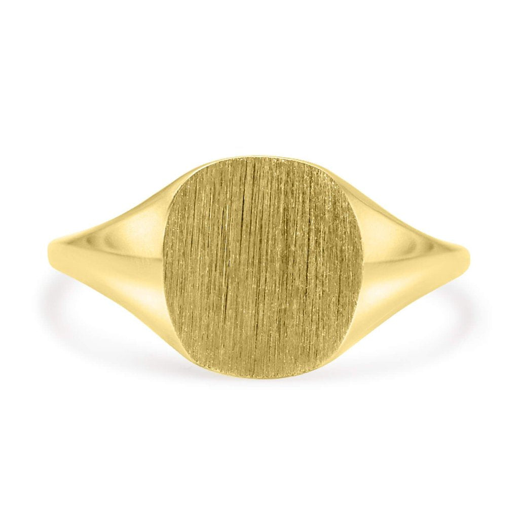 Square Signet Ring In 14K Solid Gold
