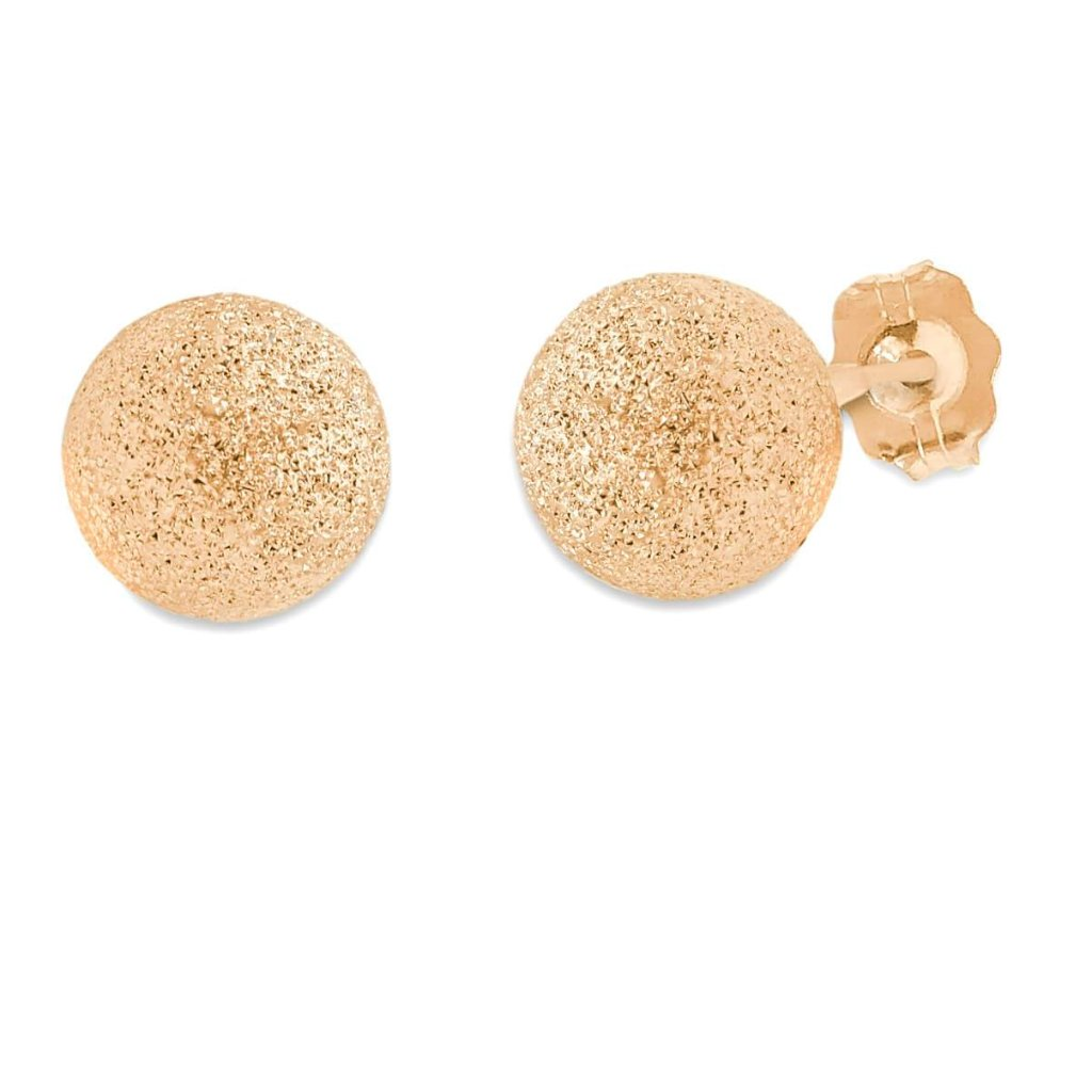 Stardust sparkly Studs In 14K Gold