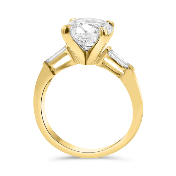 TAYLOR | Round Double Baguette Engagement Ring