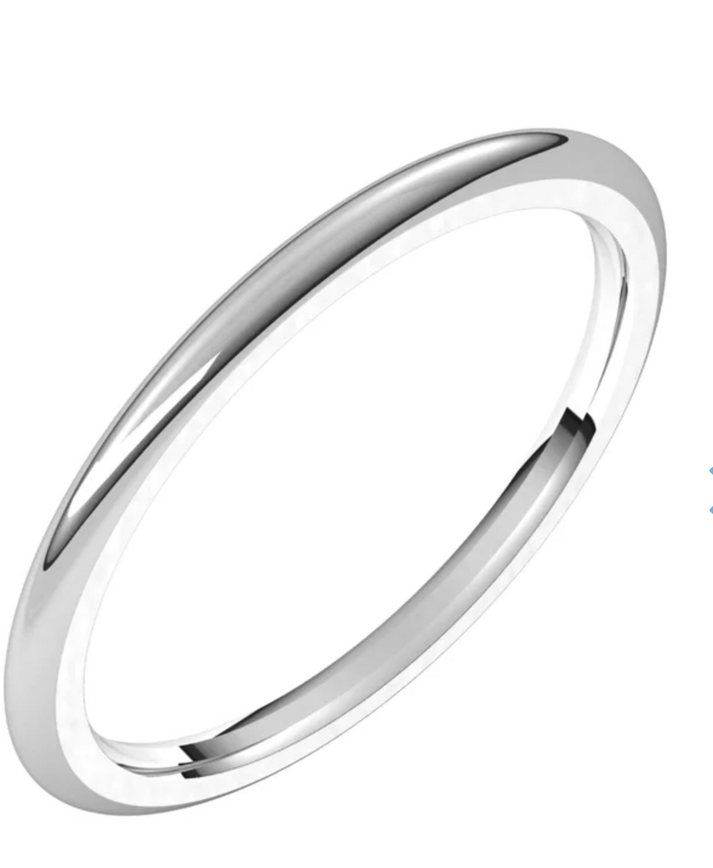 Thin Comfort Fit Band 1.5mm In 14K Gold