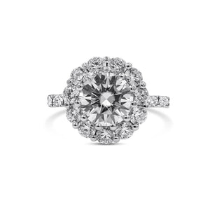 TIFFANY| Flower Halo Engagement Ring
