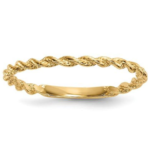 Twisted Gold Rope Ring