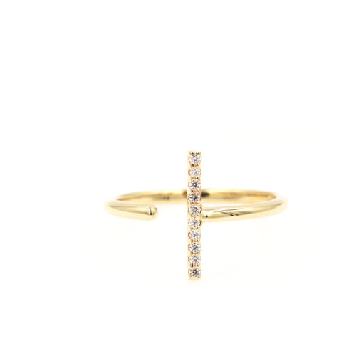 VERVAIN Diamond Ring - 14K Yellow Gold