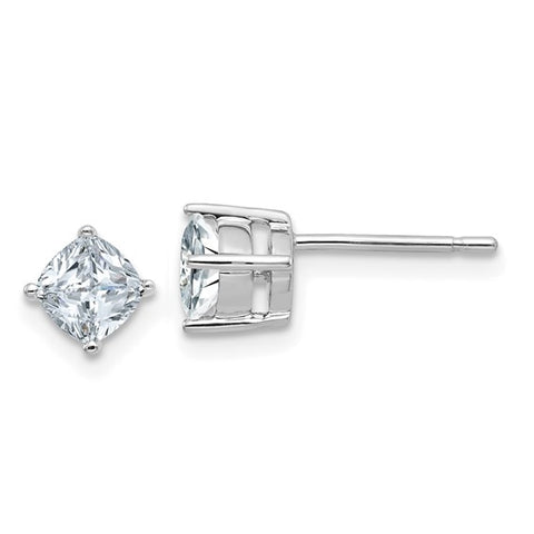 Cushion Cut Moissanite Studs