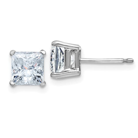 Princess Cut Moissanite Studs