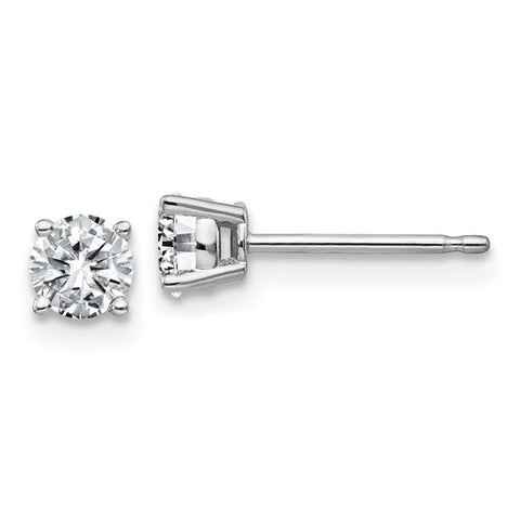Round Cut Moissanite Studs