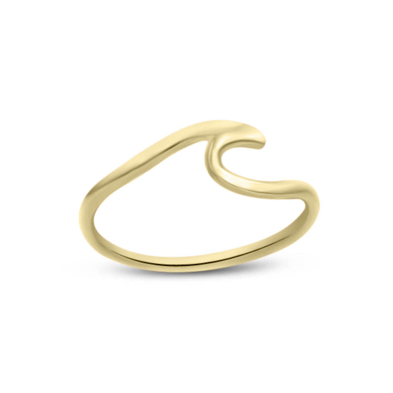 Wave Ring In 14K Solid Gold