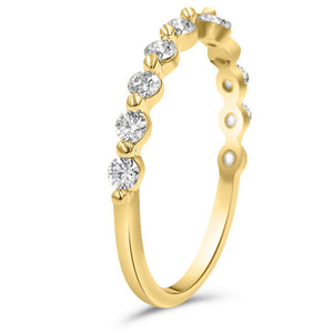 Julie Diamond Wedding Band In 14K Yellow Gold