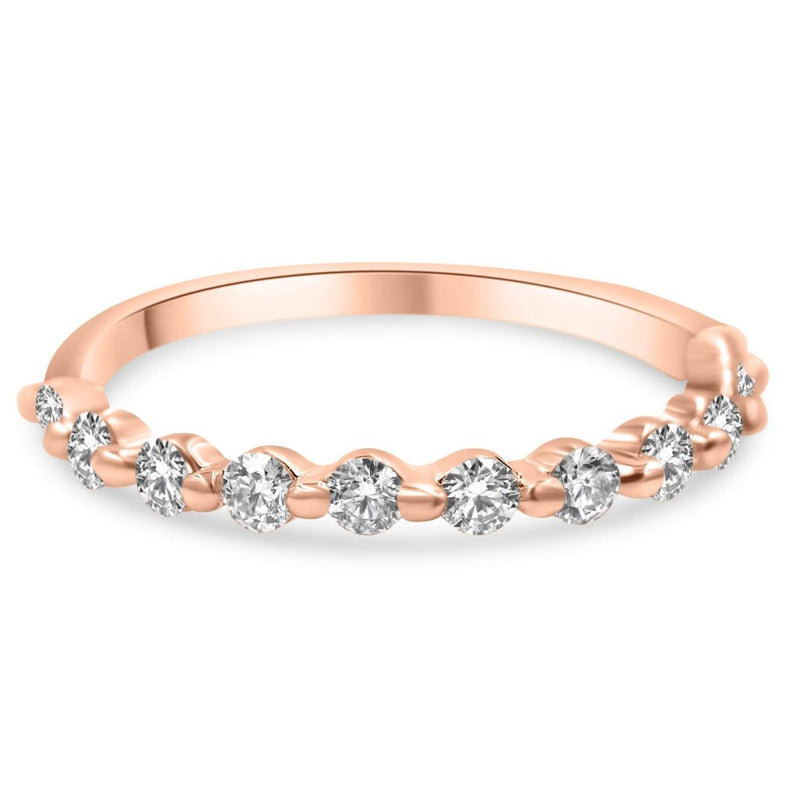 Julie Diamond Wedding Band In 14K Rose Gold