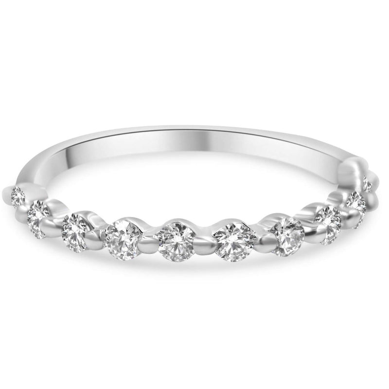 Julie Diamond Wedding Band In 14K White Gold