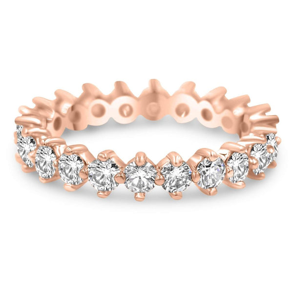 Diamond Eternity Infinity Band In Rose Gold