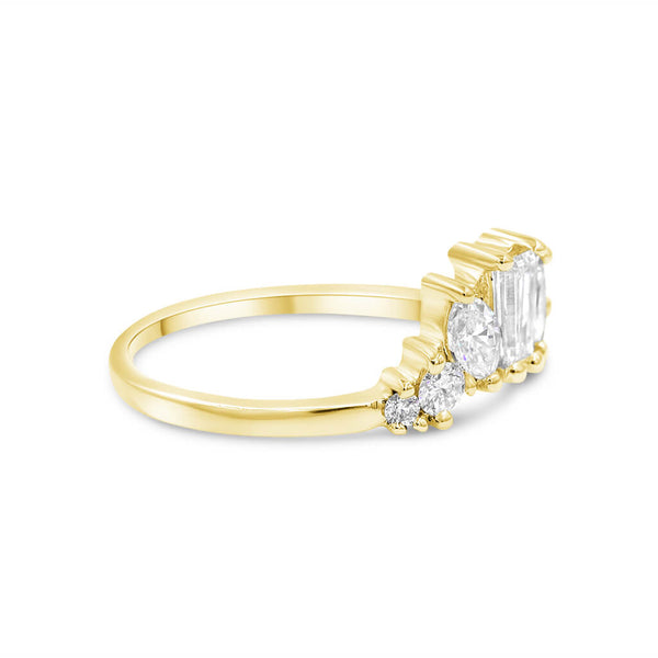IDAN | Mismatch Diamond Wedding Band