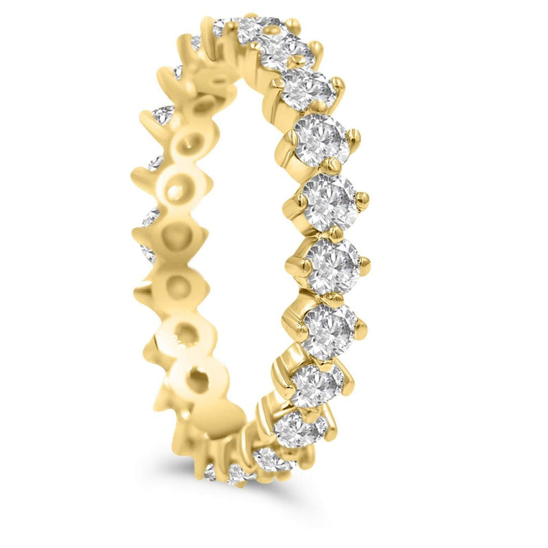 Diamond Eternity Infinity Band In Yellow Gold