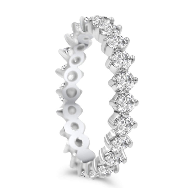 Diamond Eternity Infinity Band In White Gold Or Platinum