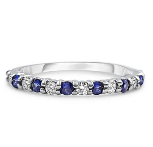 SOMETHING BLUE | Sapphire & Diamond Wedding Band