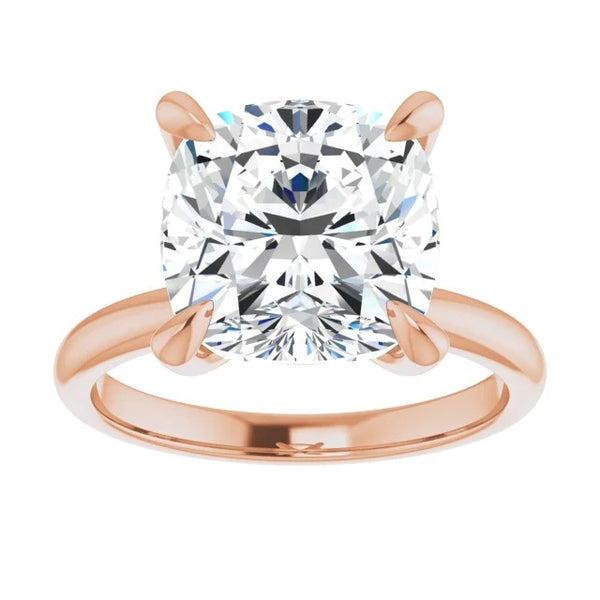 Cushion Moissanite Solitaire Engagement Ring