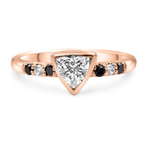 Vanessa Sapphire & Diamond Ring In 14K Solid Gold
