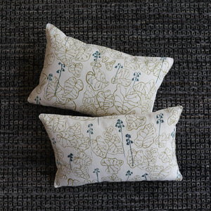 Sara Parker Heuchera in Straw and Juniper Pillow at Steel+Plank