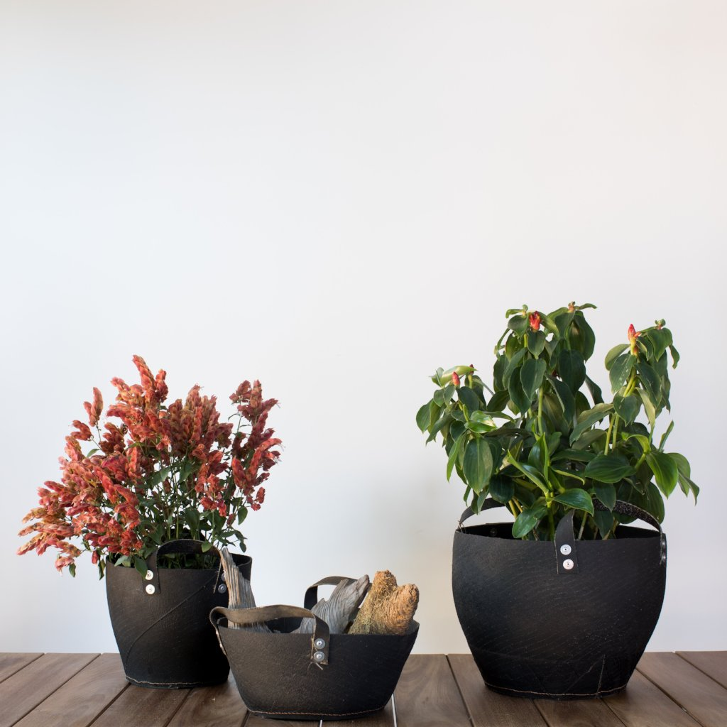 bidk Repurposed Rubber Planters Steel+Plank