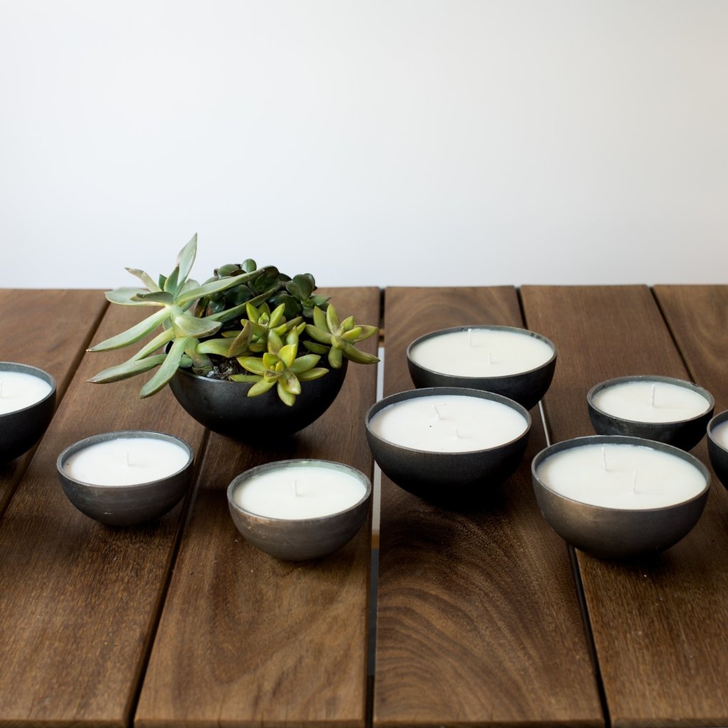 Steel Vessel Candles Soy Wax with Essential Oils