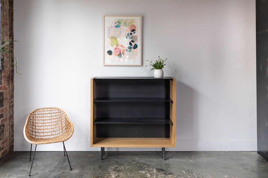 Bent Steel Shelf bookcase