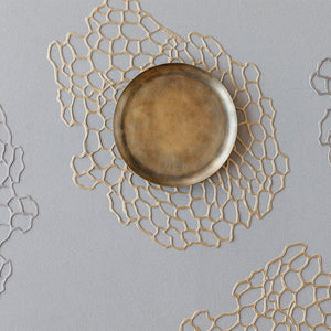 Chilewich Metallic Sea Lace Placemat in Brass
