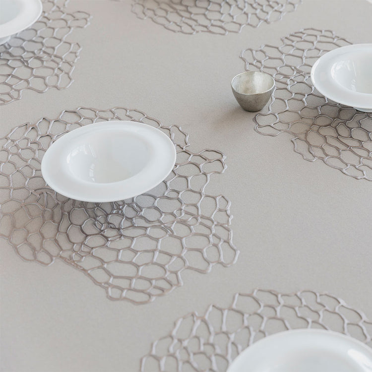 Chilewich Metallic Sea Lace Placemat in Gunmetal