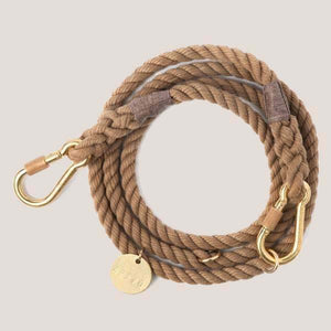 Found My Animal Dark Tan Rope Dog Leash