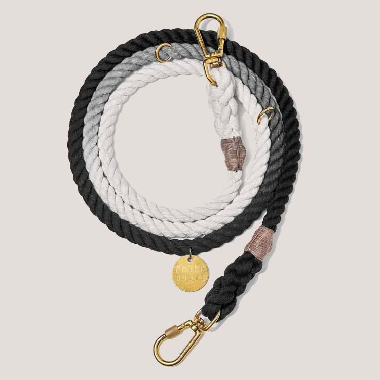 Black Ombre Rope Leash