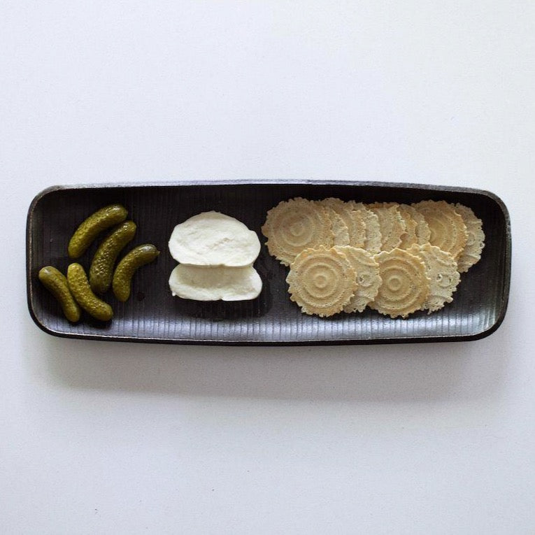 Ceramic Serving Tray by Nancy Green in Matte Black