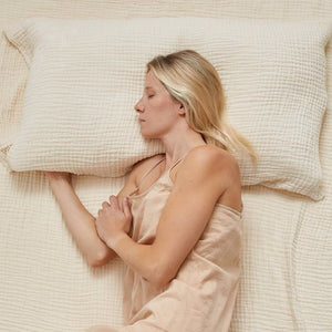 willaby organic cotton gauze pillowcases