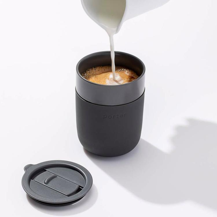 Porter Ceramic To-Go Cup in Charcoal