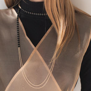 Abacus Row Allluvial Ryn Necklace Steel + Plank