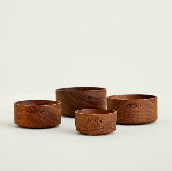 Be Home Teak Measuring Cups without Handles