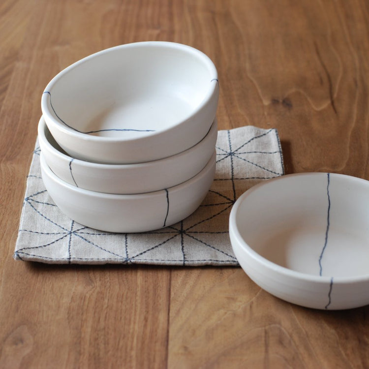 Lines Salad Bowl | white porcelain