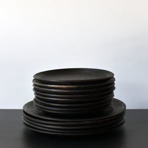 Unique Wooden Dinnerware Southfork Timber Ebonized Oak Wood Plates
